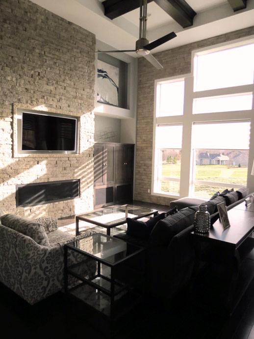 Oneida Residence Modern Verdigris Interior Design
